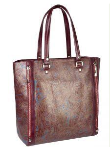 Бордовая итальянская сумка