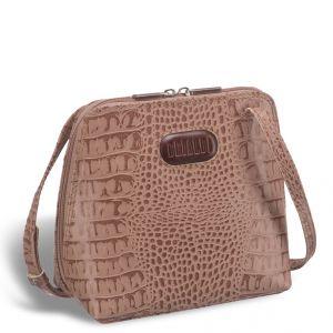 Оригинальная сумочка через плечо BRIALDI Torre (Торре) croco cappuccino