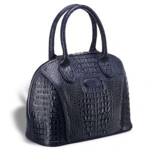 Каркасная женская сумка BRIALDI Villena (Вильена) croco navy