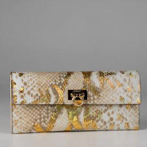Кошелек женский 1501640; кожа; золотой
