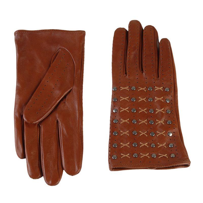Перчатки женские 02104215379_50; кожа; полуночно-синий (Размер 8)