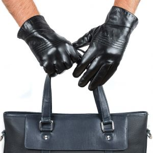 Перчатки мужские 29К_40071_10_П; кожа; черный (Размер 10)
