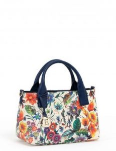 Кожаная сумка с цветами