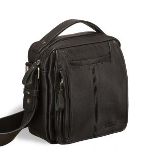 Кожаная сумка через плечо BRIALDI Vito (Вито) blaсk
