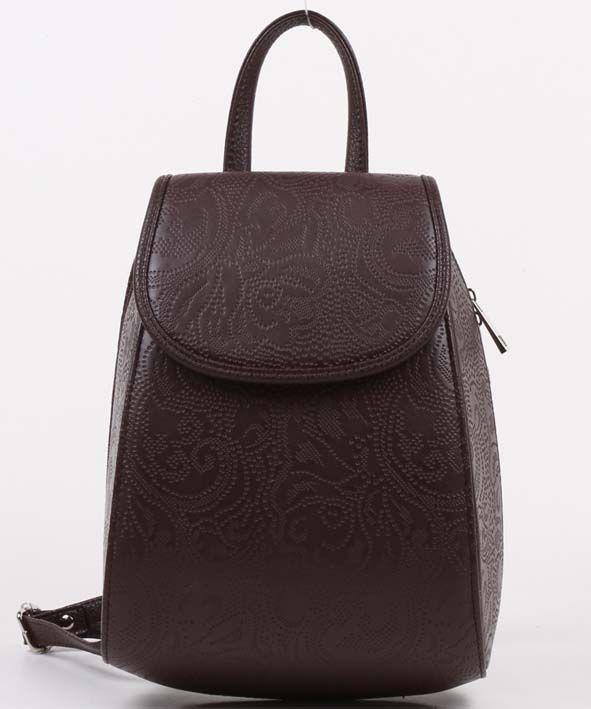 Коричневый рюкзак с перфорацией