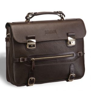 Роскошный мужской портфель для документов BRIALDI Lodi (Лоди) brown