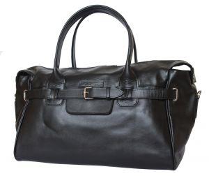Кожаная дорожно-спортивная сумка Carlo Gattini Adamello black