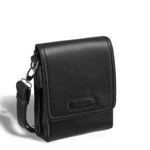 Кожаная сумка через плечо BRIALDI Grand Cleveland (Гранд Кливленд) relief black