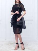 Черная сумочка через плечо